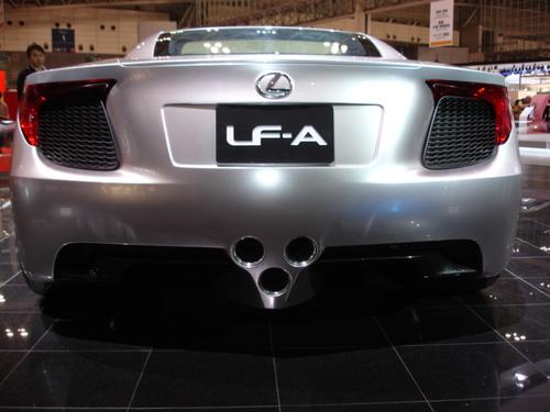 Lexus LF-A rear view