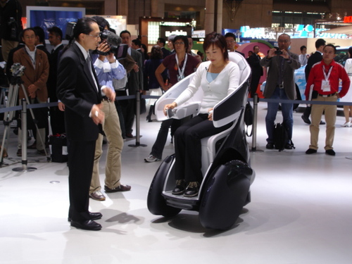 "Toyota ""i-Real"" One-Person Vehicle"
