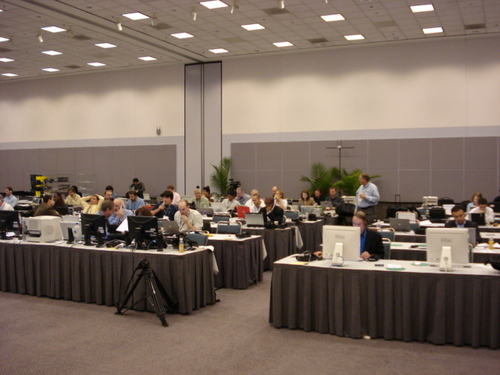 Media Room at the LA Auto Show