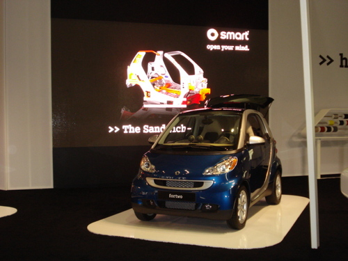 Smart fortwo with Video Wall