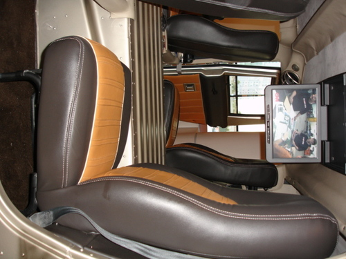 Tricked-out rear seat of WARRIOR ONE.